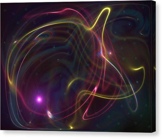 Traveling Energy Canvas Print by Ricky Haug