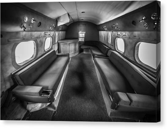 Sunderland Canvas Print - Traveling First Class 1944 Short Sunderland Bw by Rich Franco