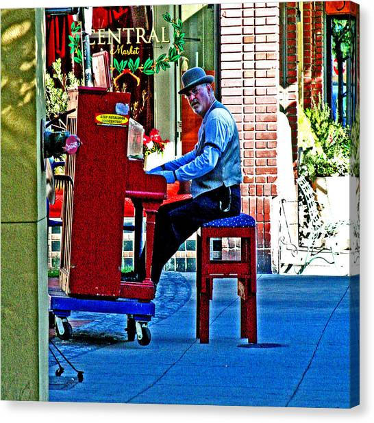 Traveling Piano Player Canvas Print