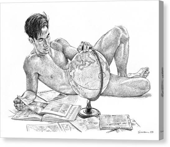 Male Nudes Canvas Print - Traveller by Douglas Simonson