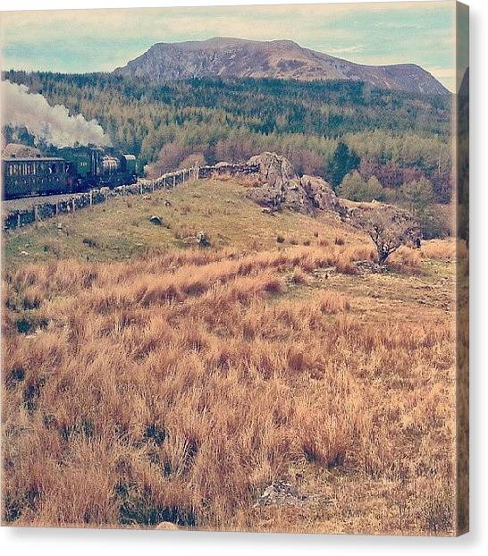 Steam Trains Canvas Print - #travelling By #steamengine Across The by Alexandra Cook