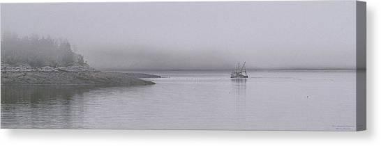Trawler In Fog Canvas Print