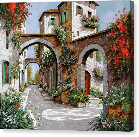 Villages Canvas Print - Tre Archi by Guido Borelli