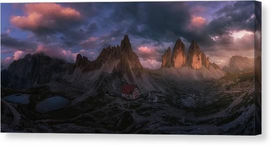 Dolomites Canvas Print - Tre Cime by David Mart?n Cast?n