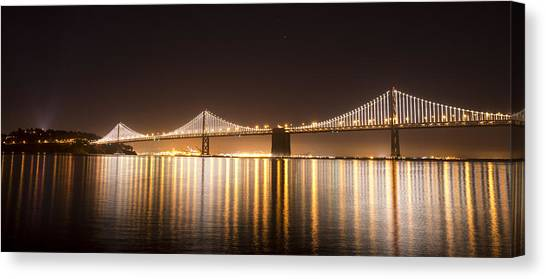 Treasure Island Bay Lights Canvas Print