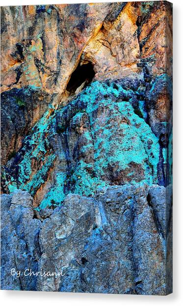 Mountain Caves Canvas Print - Treasure Mountain by Chrisann Senk Ciaochow Photography