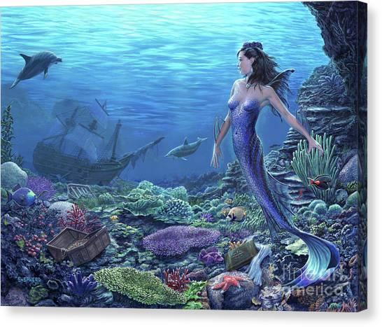 Treasure Of The Sea Canvas Print by Stu Shepherd