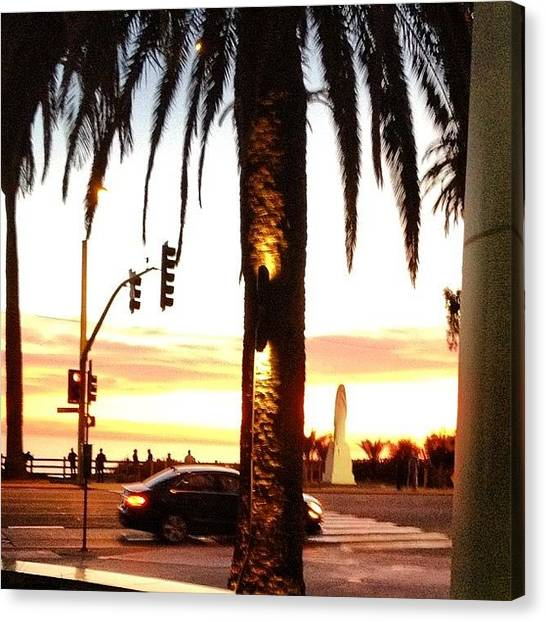 Santa Monica Canvas Print - Treat Yourself And Life Well And It by Kessa Pellum