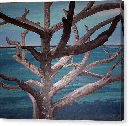 Tree And Beach Canvas Print