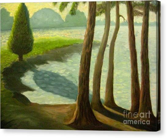 Tree Gossip At Galt's Ferry Canvas Print