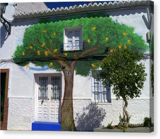 Tree House In Spain Canvas Print