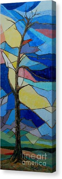 Tree Intensity - Sold Canvas Print by Judith Espinoza