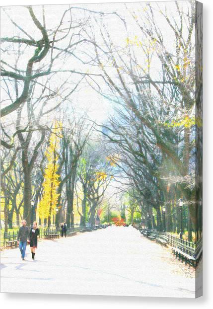 Tree Lovers Lane Canvas Print