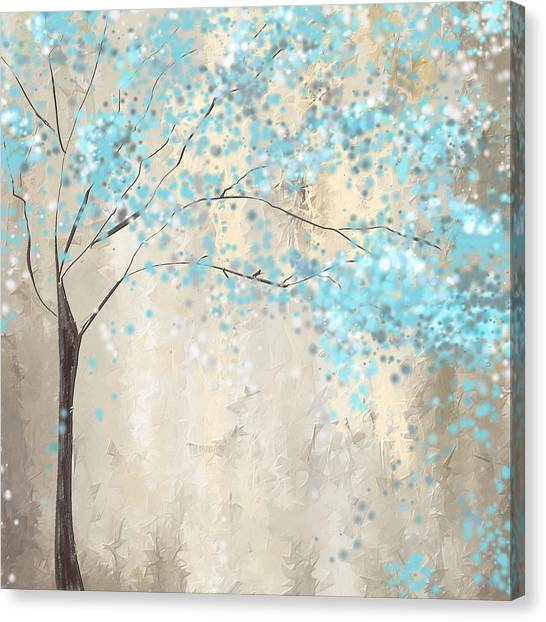 Sly Canvas Print - Tree Of Blues by Lourry Legarde