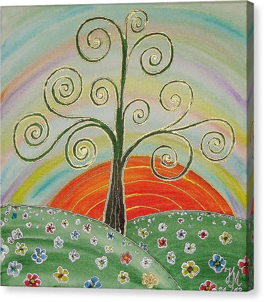 Tree Of Happiness Canvas Print