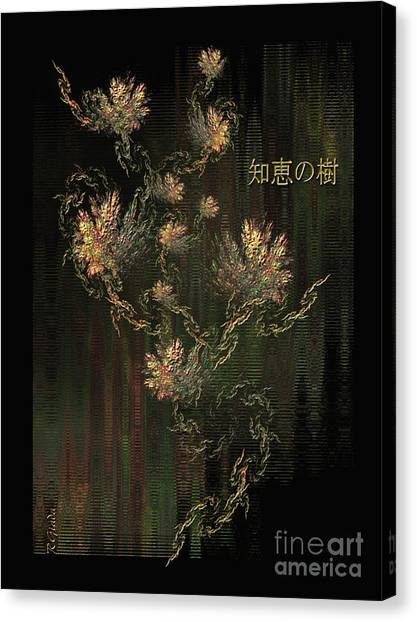 Tree Of Knowledge In Bloom - Oriental Art By Giada Rossi Canvas Print