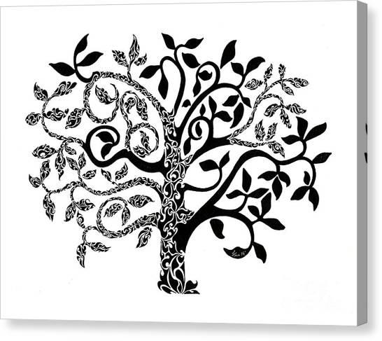 Fluids Canvas Print - Tree Of Life by Anushree Santhosh