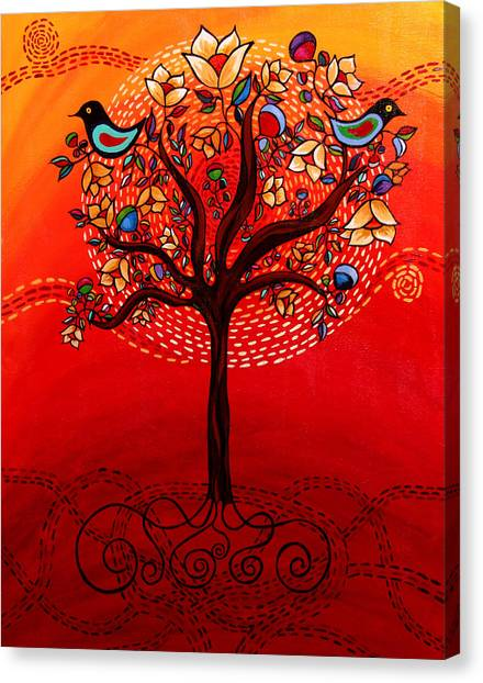 Tree Of Life Canvas Print by Catherine Barry