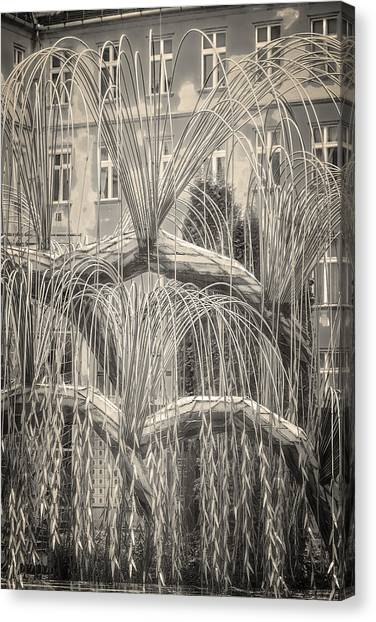 Weeping Willows Canvas Print - Tree Of Life Dohany Street Synagogue by Joan Carroll