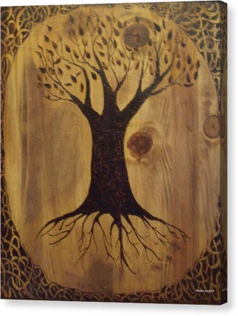Wood Burning Pyrography Canvas Print