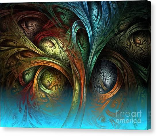 Tree Of Life Canvas Print by Sandra Bauser Digital Art