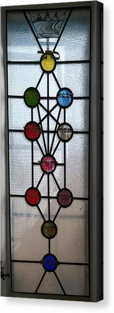 House Of Worship Canvas Print - Tree Of Life With Ten Sephirots by Panoramic Images