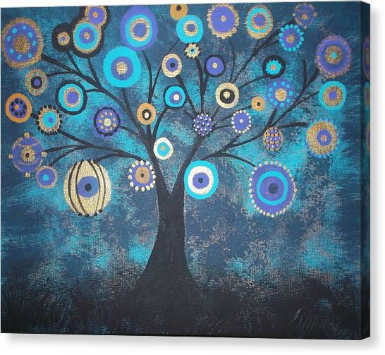 Tree Of Lights Canvas Print by Tina Murray