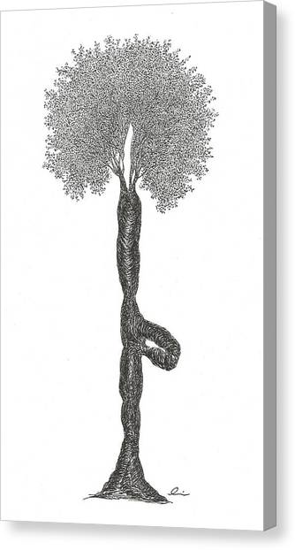 Tree Pose Canvas Print