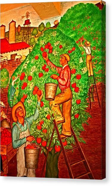 Tree Top Harvest Canvas Print