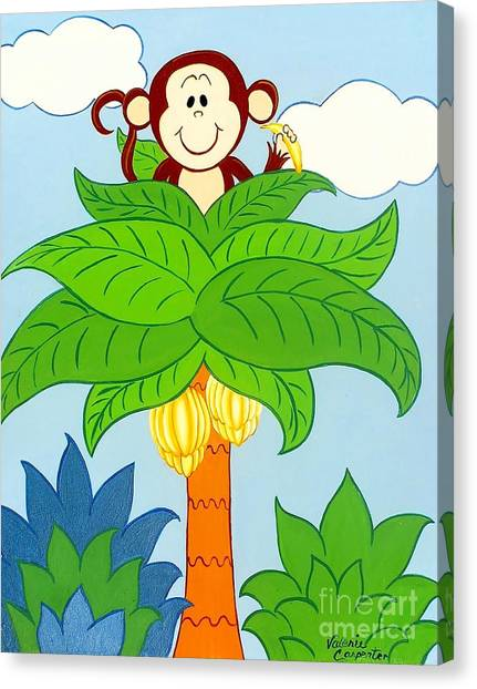 Tree Top Monkey Canvas Print