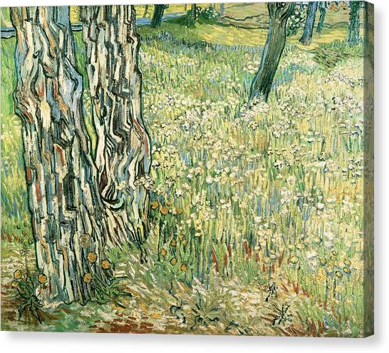Rijksmuseum Canvas Print - Tree Trunks In Grass by Vincent van Gogh