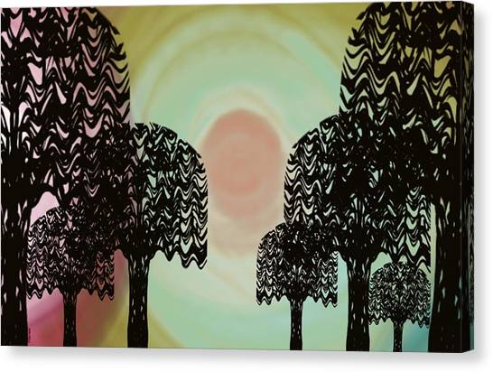Trees Of Light Canvas Print
