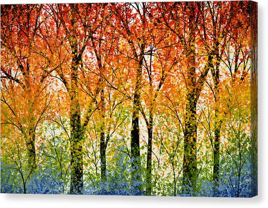 Trees Of The Rainbow Canvas Print