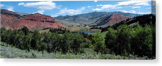 Teton National Forest Canvas Print - Trees On Red Hills, Gros Ventre by Panoramic Images