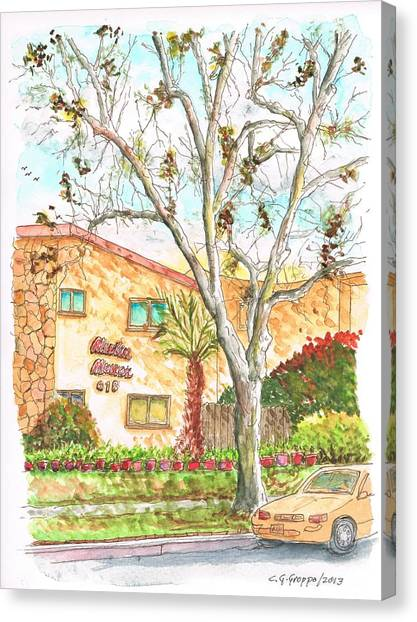 Trees Without Leaves In Hollywood-california Canvas Print