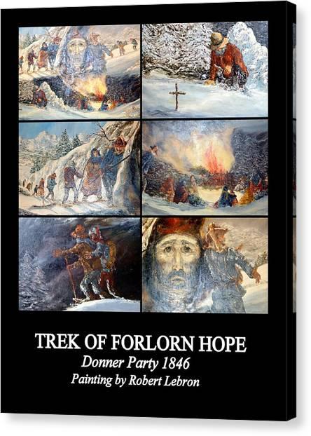 Trek Of Forlorn Hope Canvas Print