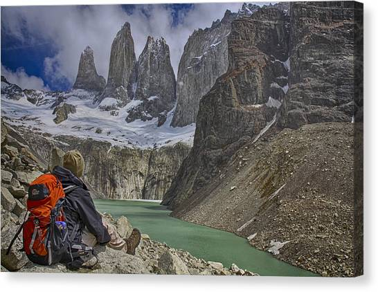 Trek To Torres Del Paine Canvas Print