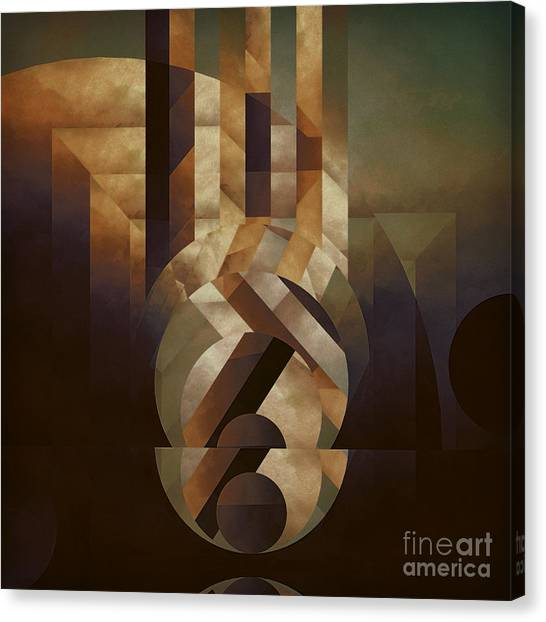 Abstract Art Canvas Print - Tremulous Sphere by Lonnie Christopher