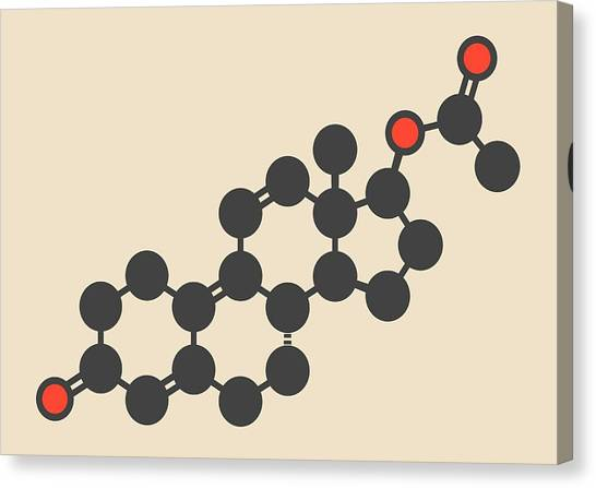 Droid Canvas Print - Trenbolone Acetate Molecule by Molekuul