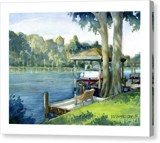 Trent River Boathouse Canvas Print
