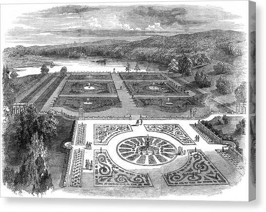 Trentham Hall, Staffordshire - Canvas Print by  Illustrated London News Ltd/Mar