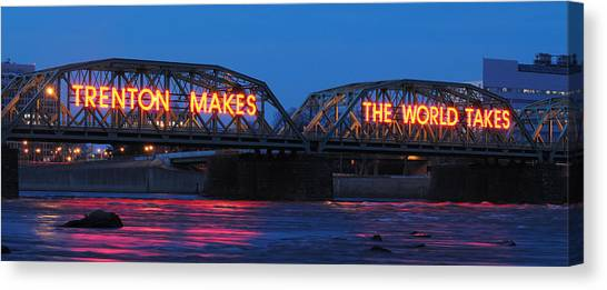 Trenton Makes Panoramic Canvas Print