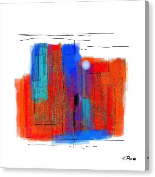 Trepidation Canvas Print by D Perry