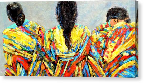 Tres Mujers Canvas Print by Marilyn Hurst