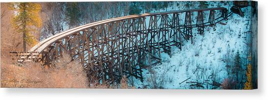 Trestle Rebuild Canvas Print