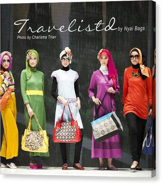 Islamic Art Canvas Print - Trevelistd By @nyaibags #iiff #iiff2013 by Trian Wida  Charisma