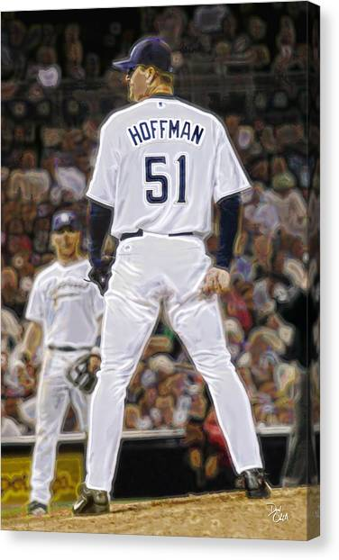 San Diego Padres Canvas Print - Trevor Hoffman  Padres by Don Olea