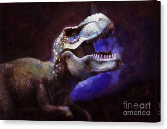 Tyrannosaurus Canvas Print - Trex Roar by Pixel Chimp