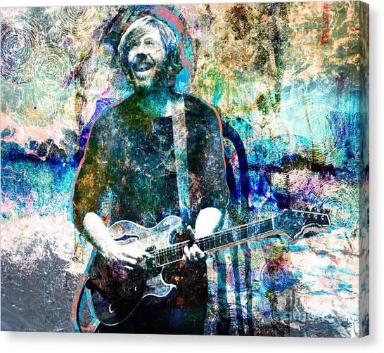 Grateful Dead Canvas Print - Trey Anastasio - Phish Original Painting Print by Ryan Rock Artist