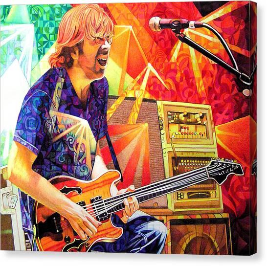 Trey Anastasio Squared Canvas Print